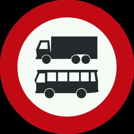 C7b Gesloten voor autobussen en vrachtauto's