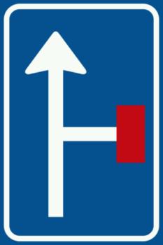 L9 Vooraanduiding doodlopende weg